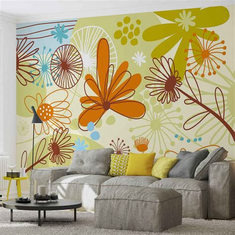 buy wall mural floral pattern wall paper mural buy at europosters