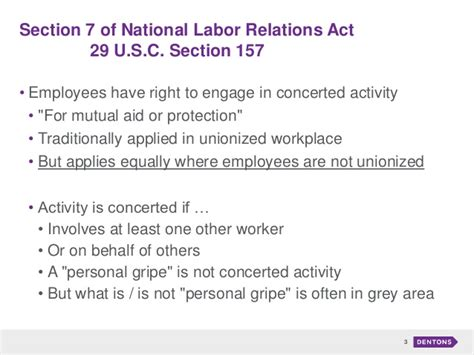 Nlra Section 7 Rights by Privacy And Social Media In The Workplace