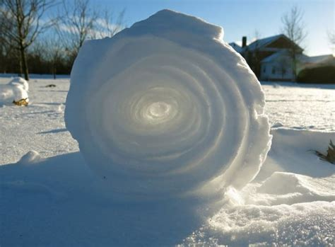 snow rollers naturally occurring wheels of snow neatorama