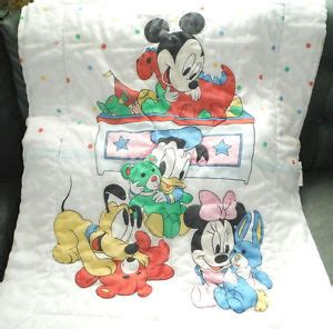 Vintage 80s Disney Baby Mickey Mouse Minnie Crib Blanket Classic Mickey Mouse Crib Bedding
