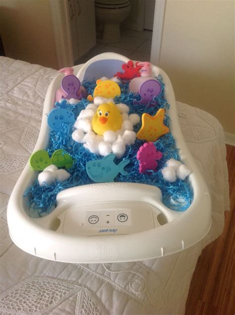 how to make a bathtub diaper cake bath time diaper cake in baby tub baby shower ideas