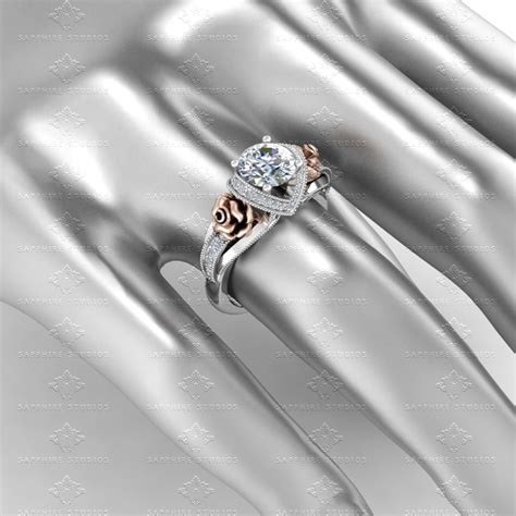 white and gold l l amour 1 65ct white gold engagement ring
