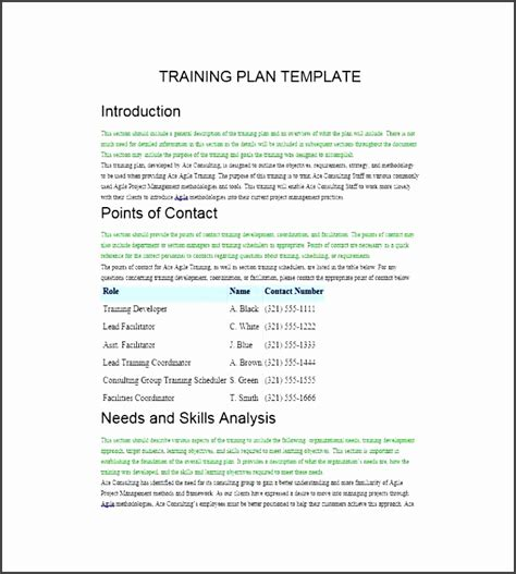 Facilitation Plan Template by Outstanding Facilitation Plan Template Inspiration