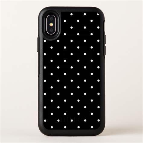 black  white small polka dots pattern otterbox symmetry