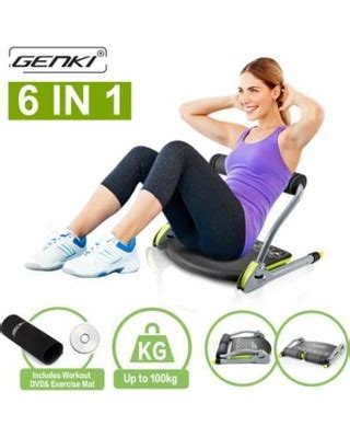 shopping special genki abs machine total core exercise abdominal trainer ab workout fitness