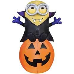 Witch Door Decoration Inflatable Minion Vampire Halloween Decoration Craziest