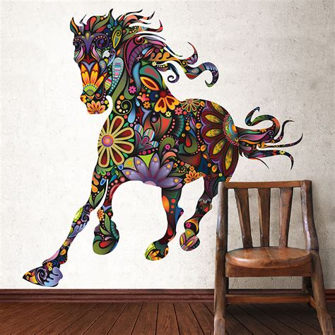 horse graphic wall decal sticker multicolor by mywallstickers horse head wall decal stickers quote saddle ride living