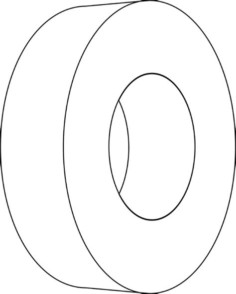 hollow cylinder clipart