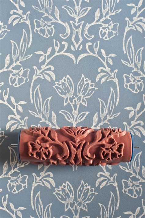 pattern roller uk tapet patterned paint roller from the painted house