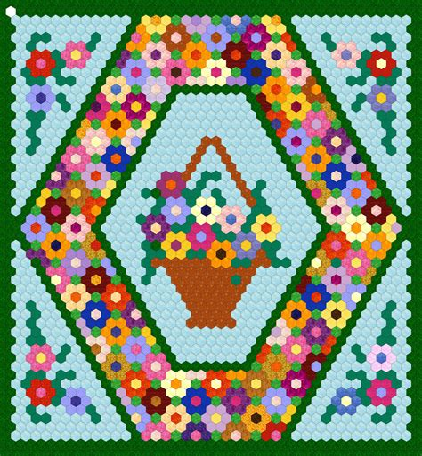 Hexagon Patchwork Quilt Patterns - 25 inch hexagon wall hanging project dakota essence