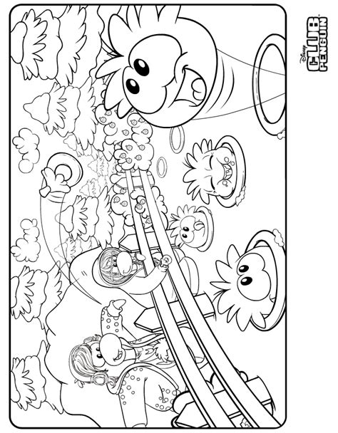 coloring pages club penguin printable club penguin printable coloring pages az coloring pages
