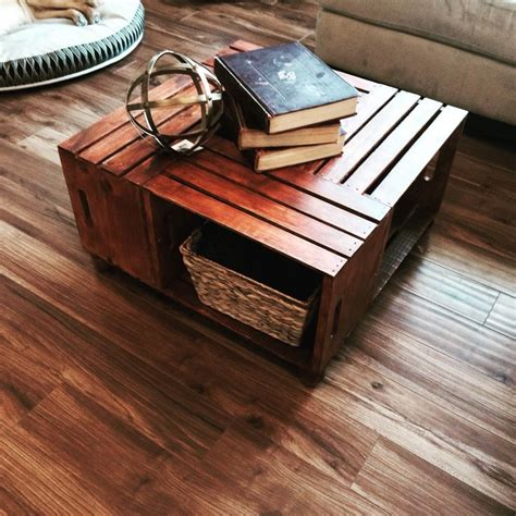 wooden crate coffee table my projects