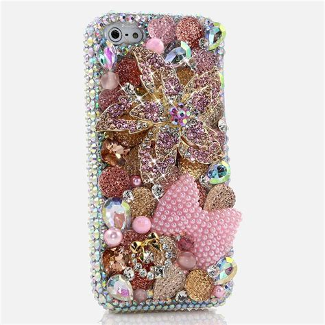 Oppo F 3 Plus Chanel Pretty Pink Flower Caver Hardcase bling cases custom made flower crystals for iphone 7 7 plus iphone 8 samsung galaxy
