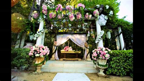 garden wedding decoration ideas youtube