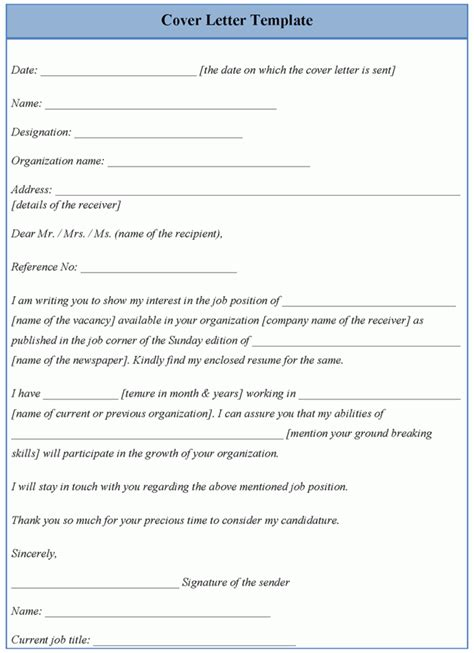 template for cover letter exles of cover letter