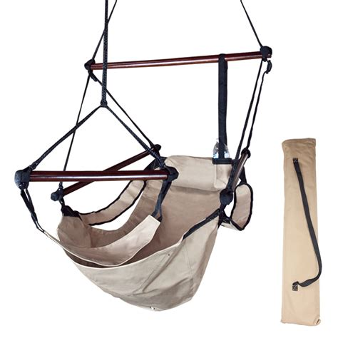 sky swing chair beige deluxe air hammock swing chair patio tree hanging