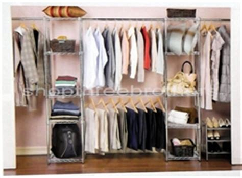 Chrome Closet Organizer by New Chrome Metal Large Adjustable Size Closet Organizer 10