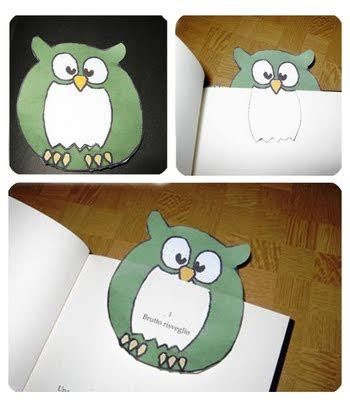 libro the owl who was crafty sue owl bookmarks gufetti segna libro