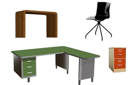 Free Office Desks Office Furniture Vectors Vector Free
