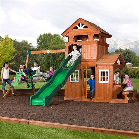backyard discovery shenandoah cedar wood swing set