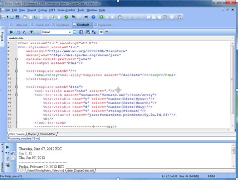 oracle xslt tutorial java zip function