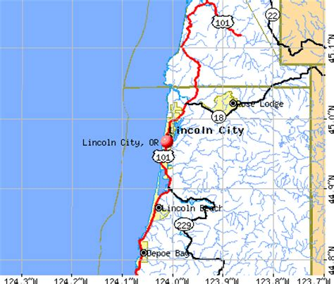 Vacation Homes Oregon Coast - image gallery lincoln city map