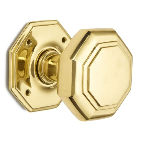 4 quot flat octagonal mortice door knob from 163 357 89