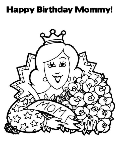 Free Happy Birthday Mum Coloring Pages Happy Coloring Page