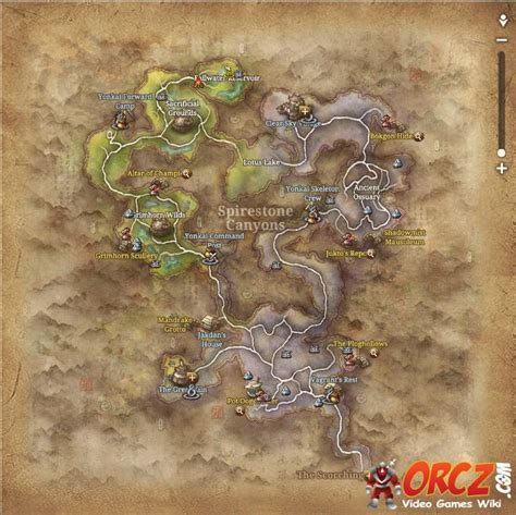 blade  soul spirestone canyons map orczcom