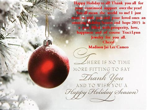 happy holiday        continued support   year