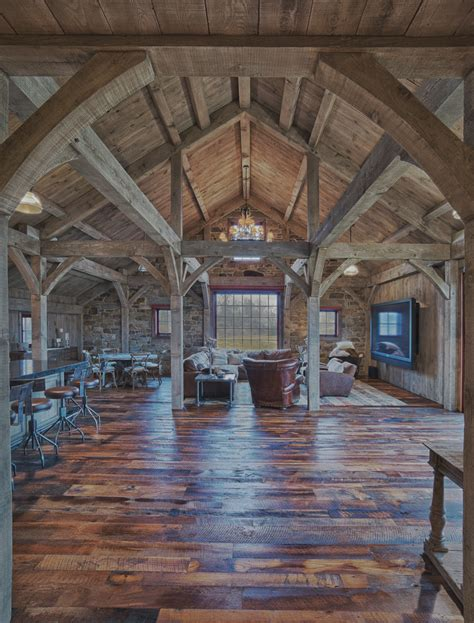 Timber Frame Home Interiors by Build A Party Barn Carolina Timberworks