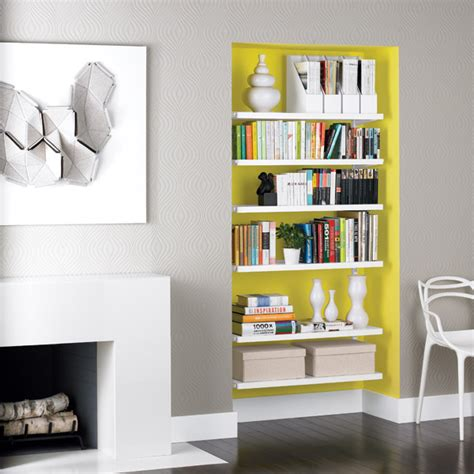 white elfa d 233 cor bookshelves the container store