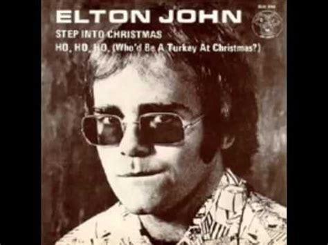 elton john christmas elton john step into christmas youtube