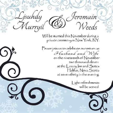 Hip Wedding Invitation Wording by Invitation Wording Light Refreshments Gallery Invitation