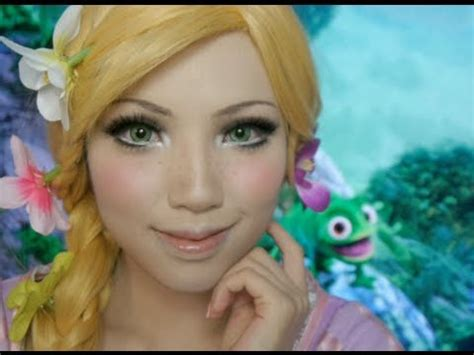 rapunzel disney collaborazione makeup tutorial disney s tangled rapunzel make up tutorial ft flynn and