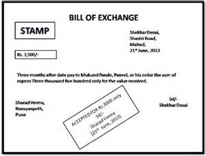 Bill Of Exchange Drawer by 4 4 Format Of Bill Of Exchange Accounting Gyaan