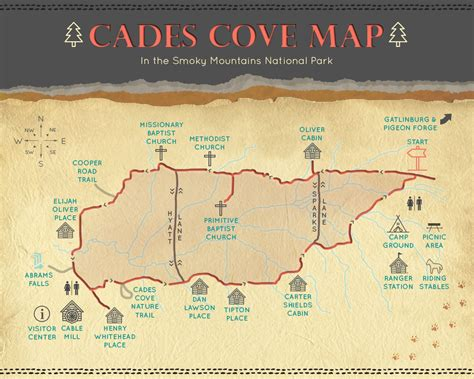 cades cove map the only cades cove map loop road guide you ll need