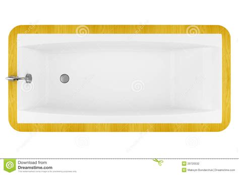 bathtub top view top view of modern wooden bathtub isolated on white stock