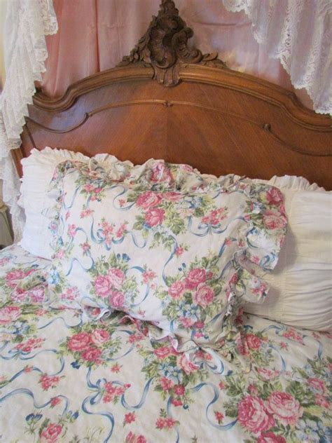 seersucker bedspreads seersucker roses and ribbons ruffled summer bedspread and pillow sham size ruffle