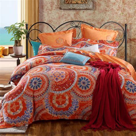 burnt orange comforter king black orange bedding embroidered bedspread bed cover