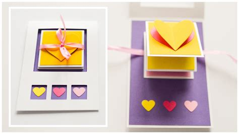 card step by step how to make pop up greeting card s day hearts