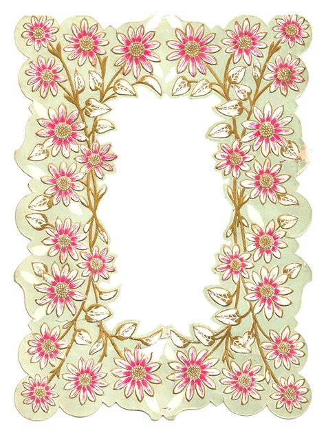 flower design on paper antique images digital scrapbooking paper crafting frame