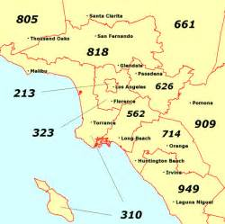 southern california area code map california map