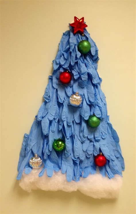 rubber glove christmas tree tree made of gloves work trees trees and gloves