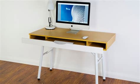pull out desk shelf stockholm desk shelf and storage groupon goods