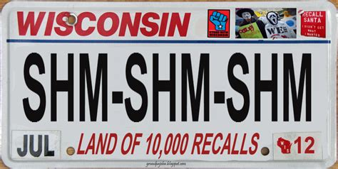 Wisconsin Vanity Plates by S For New Wisconsin License Plate