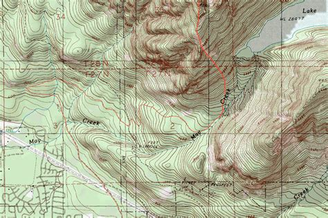 topo map zekes peak topographic map photos diagrams topos summitpost