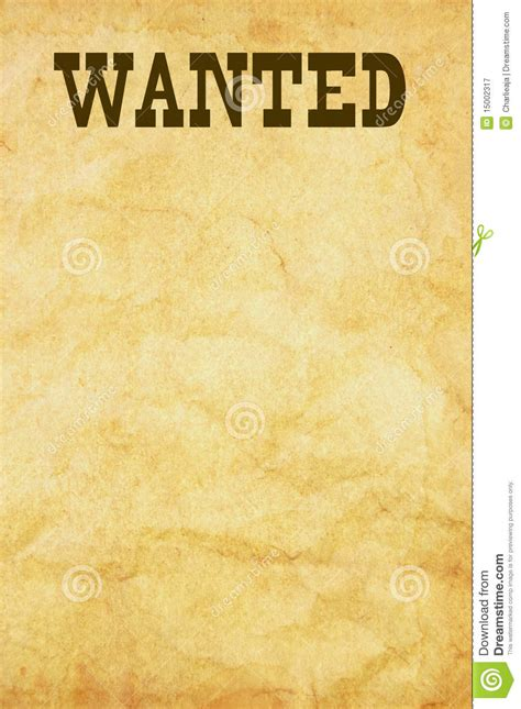 Image Gallery Wanted Sign Free Wanted Poster Template