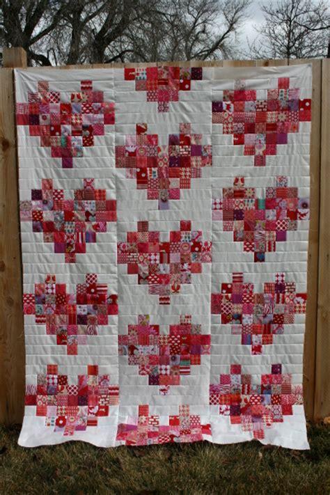 heart pattern quilt scrappy heart quilt top hopeful homemaker