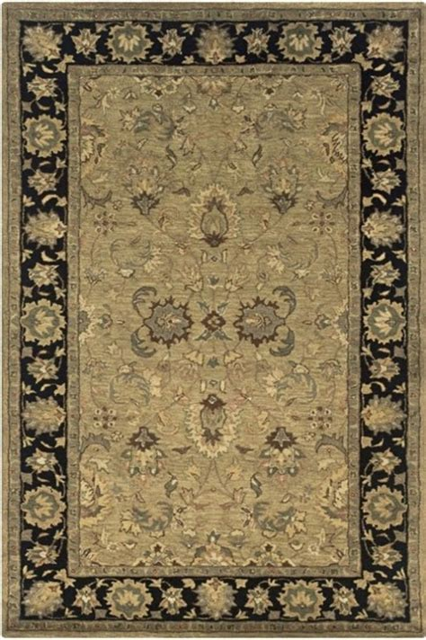 beige rug with black border shine rectangle traditional rug beige border color black 3 x5 traditional area rugs by